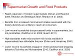 supermarket growth and food products