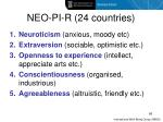 neo pi r 24 countries