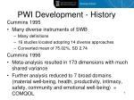 pwi development history