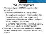 pwi development