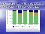 blacks hispanics amer indians over concentrated in high poverty tracts
