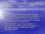 how can we eliminate health status inequality2