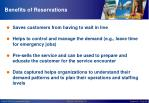 benefits of reservations