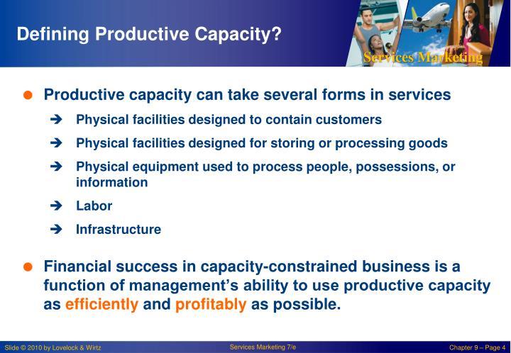 Defining Productive Capacity?