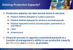 defining productive capacity