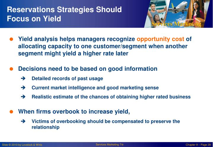 Reservations Strategies Should Focus on Yield
