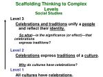 scaffolding thinking to complex levels