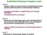 scaffolding thinking to complex levels1
