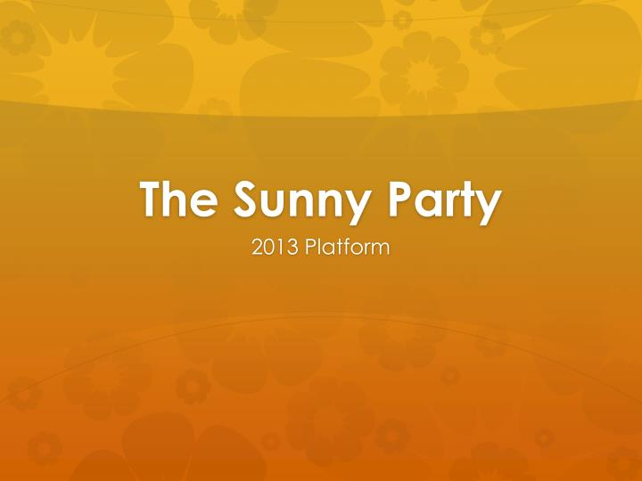 the sunny party n.