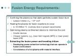 fusion energy requirements2