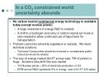 in a co 2 constrained world uncertainty abounds