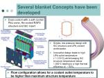 several blanket concepts have been developed
