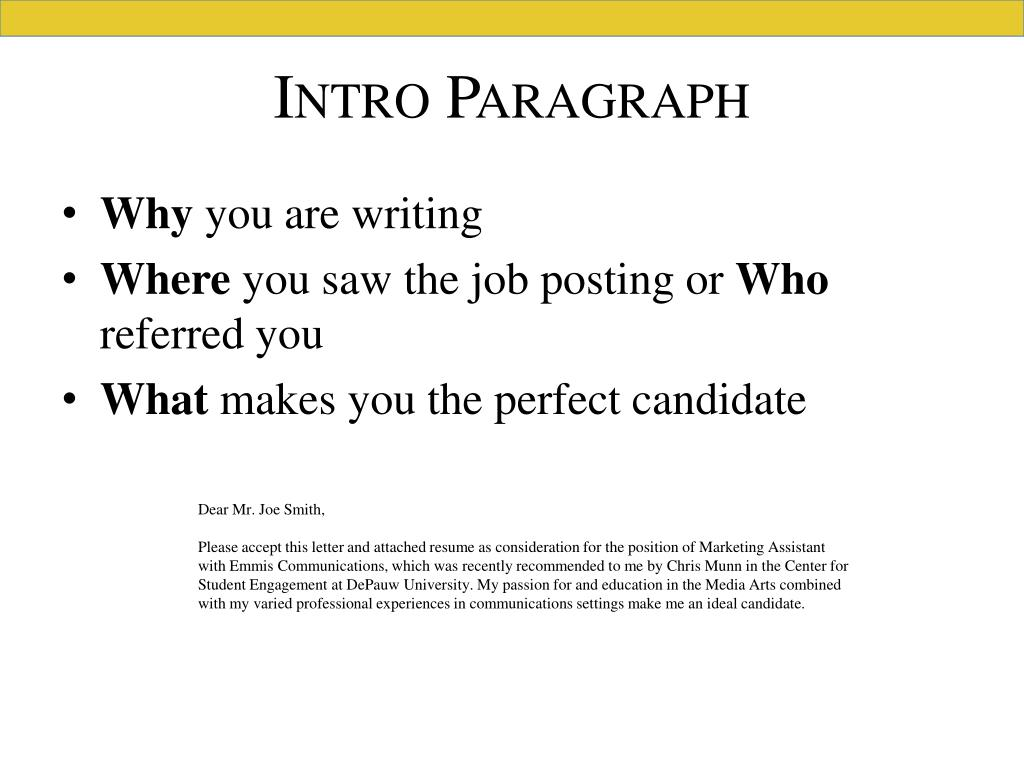 Ppt Writing An Effective Resume And Cover Letter Powerpoint