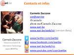 contacts et infos