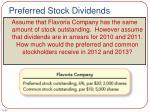 preferred stock dividends3