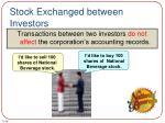 stock exchanged between investors