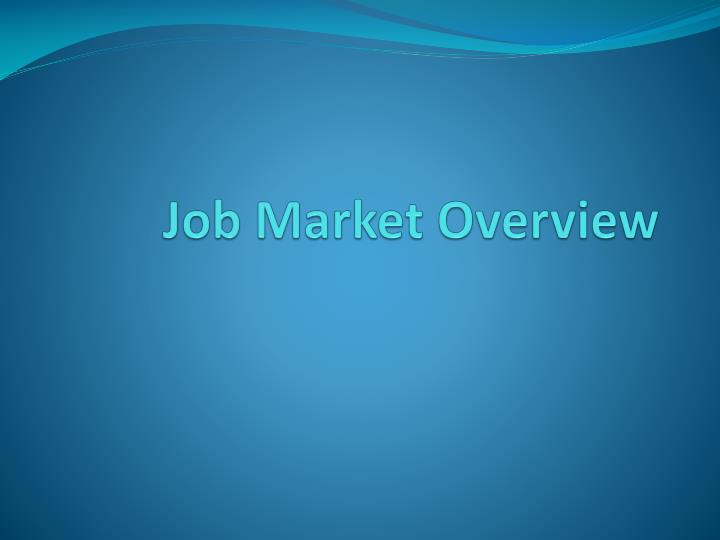 job market overview n.