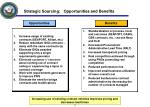 strategic sourcing opportunities and benefits