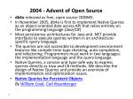 2004 advent of open source