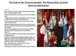the end of the commonwealth the restoration and the glorious revolution