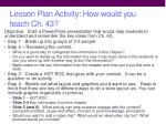 lesson plan activity how would you teach ch 43