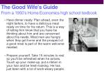 the good wife s guide from a 1950 s home economics high school textbook