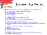 brainstorming method