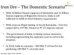 iron ore the domestic scenario