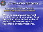 scope and content of courses question topic future courses or seminars1