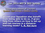 scope and content of courses question topic interest in distance learning1