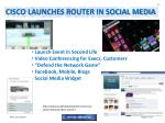 cisco launches router in social media