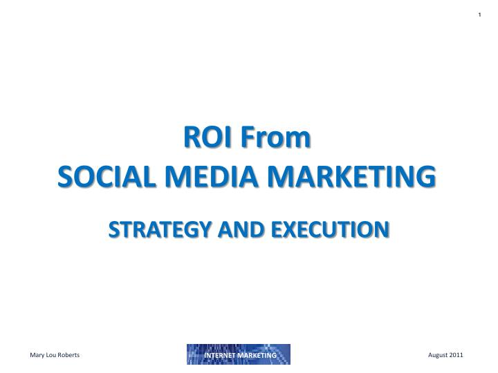 roi from social media marketing n.