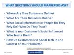 what questions should marketers ask