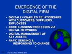 emergence of the digital firm
