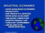 industrial economies