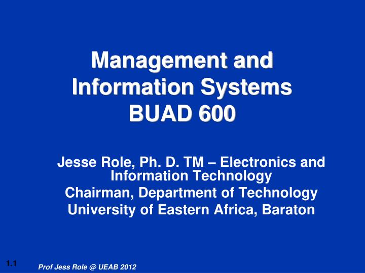 management and information systems buad 600 n.