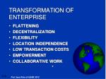 transformation of enterprise