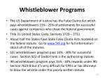 whistleblower programs