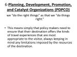 6 planning development promotion and catalyst organizations pdpco
