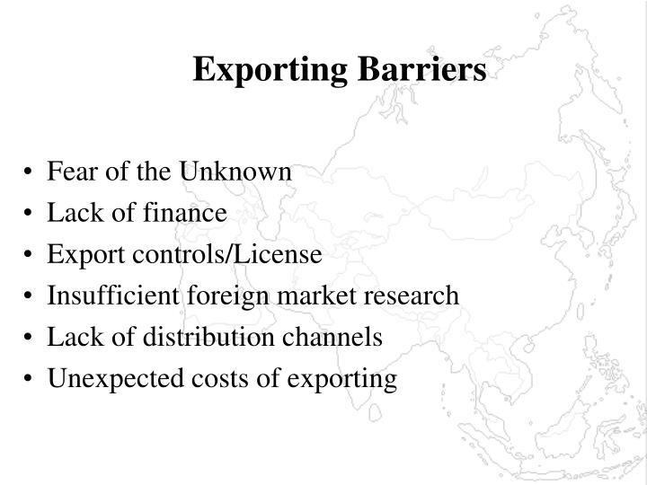 Exporting Barriers
