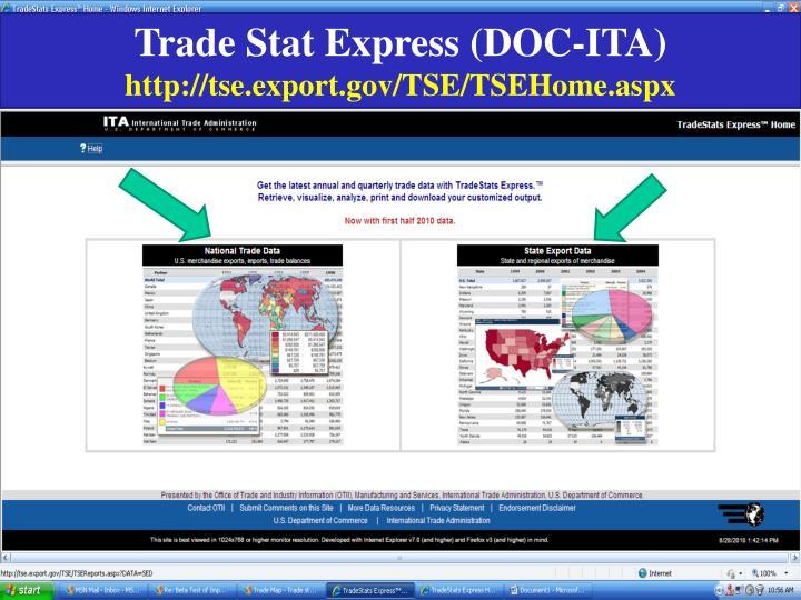 Trade Stat Express (DOC-ITA)