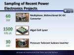 sampling of recent power electronics projects