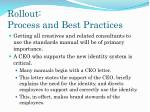 rollout process and best practices9