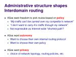 administrative structure shapes i nterdomain r outing