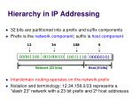 hierarchy in ip addressing