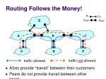 routing follows the money