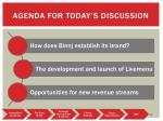 agenda for today s discussion