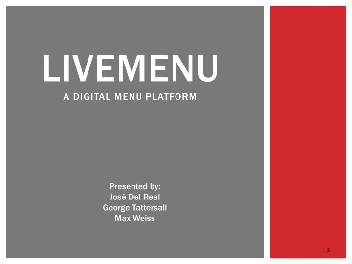 livemenu a digital menu platform n.