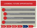 livemenu future opportunities