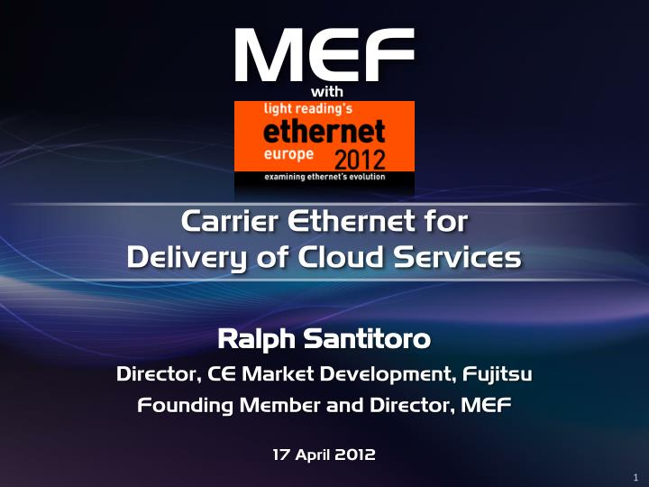 carrier ethernet for delivery of cloud services n.